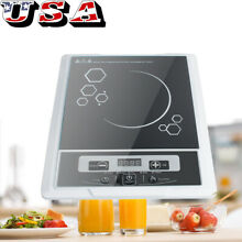 1300W Touch Panel Induction Cooktop Countertop Burner Cooker Kitchen Black FDA
