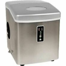 Edgestar Portable Ice Maker  Compact Stainless Steel Countertop Ice Cube Machine