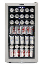 Whynter BR 128WS Lock  120 Can Capacity  Stainless Steel Beverage Refrigerator