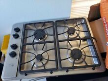 GE PGP943SET Stainless Steel 30 Gas 4 Burners Cooktop