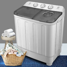 17LBS Top Load Washing Machine Compact Twin Tub Laundry Washer Dryer Portable