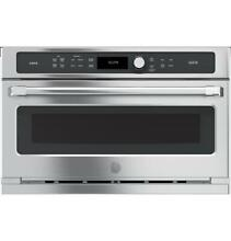 GE Cafe CSB9120SJSS Stainless Steel 30 in  Single Wall Oven with Advantium