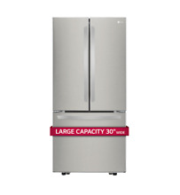 LG 30 Inch French Door Refrigerator Bottom Freezer Stainless Steel LFCS22520S