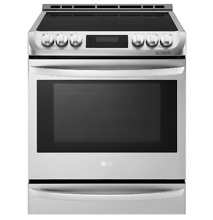 LG 30 Inch Slide In Induction Range 5 Burner Stainless Steel LSE4617ST