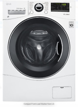 LG 24  Front Load Compact Washer   24  Ventless Compact Dryer WM1388HW DLEC888W