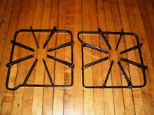 Maytag gas range stove burner grate 74001059 7518P464 60   set of 2   CLEAN