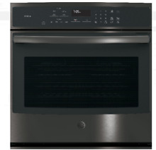 GE Profile PT7050BLTS 30 In Black Stainless Steel Single Electric Wall Oven