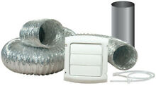 4 in  x 8 ft  Louvered Dryer Vent Kit