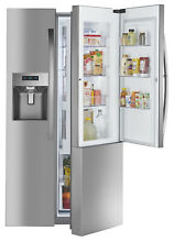Kenmore Elite 51863 Counter Depth Side by Side Refrigerator w  Grab N Go8482