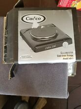Cadco   KR 1   Black Portable 120V Single Cast Iron Hot Plate Range