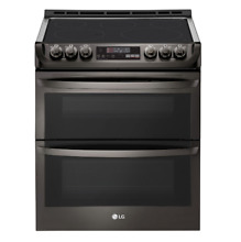 LG 30 Inch Slide In Double Oven Electric Range NOB NO BLEMISHES LTE4815BD
