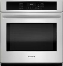 GE Monogram ZEK7000SHSS 27  Electric Single Wall Oven True European Convection