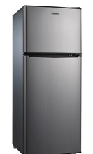 Galanz 4 6 Cu Ft  Dual Door Refrigerator   Stainless   Free Shipping