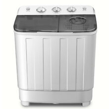Portable Mini Compact Twin Tub 12lb capacity Washing Machine Washer Spin Dryer