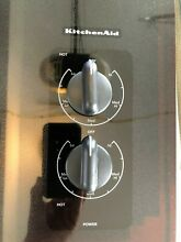KitchenAid Black 15  Electric Cooktop with 2 Radiant Elements KECC056RBL04