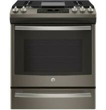 GE JGS760EELES 30  Slate Slide In Front Control Convection Gas Range