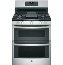 GE JGB860SEJSS 30  Free Standing Gas Double Oven Convection Range