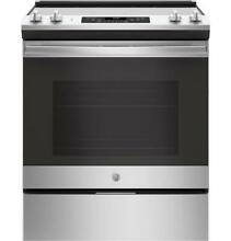 GE JS660SLSS 30  Stainless Steel Slide In Electric Range