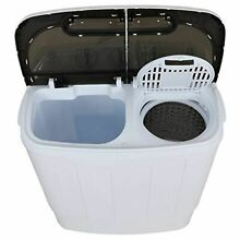 Portable Compact Mini Twin Tub Washing Machine 13lbs Capacity with Spin Dryer  L