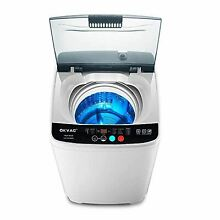Full Automatic Washing Machine  8lbs Top Load Washer Spin  8 Preset Programs Pan
