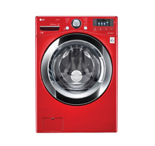 LG Stackable Front Load Washer   4 5 cu  ft    Wild Cherry Red   WM3670HRA