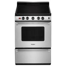 Whirlpool WFE500M4HS 24 Inch Freestanding Electric Range Stainless Steel