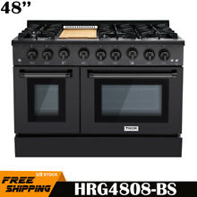 Thor Kitchen 48  Professional Gas Range 6 Burner Double Oven Range HRG4808BS NEW