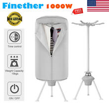 Portable 1000W Electric Clothes Dryer Wardrobe Machine Drying Heater Rack Hanger