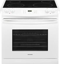 Frigidaire FFED3026TW 30  Drop In Electric Smoothtop Range   White