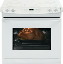 Frigidaire FFED3025PW 30  Drop In Electric Range   White with White Top
