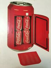 Vintage Coca Cola Mini Fridge 8 Can Portable Refrigerator Unopened Collectible