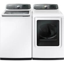 Samsung White 27  Washer And Dryer Smart Care Set WA52J8700AW   DV52J8700EW