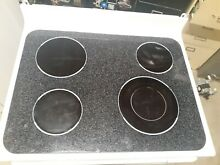 WB62T10457 GE RANGE OVEN MAIN TOP GLASS COOKTOP WHITE
