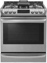 LG 30  Slide in Gas Range with Convection Single Oven Stainless Steel LSG4513ST