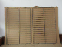 Whirlpool Range Oven Rack w  Some Wear  Staining Lot of 2 Part   3195710