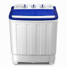 Portable Mini Compact Twin Tub Washing Machine 16lbs Washer Spin Spinner