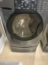 KENMORE ELITE HE3T ELECTRIC WASHER BLACK WITH STAND   PEDESTAL EXCELLENT