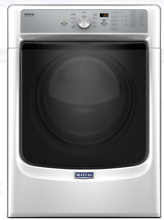 NEW  Maytag MGD5500FW 27 Inch 7 4 cu  ft  GAS Dryer with PowerDry White