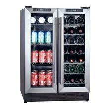 Magic Chef Dual Zone 23 4 in  42 Bottle 114 Can Beverage and Wine Cooler