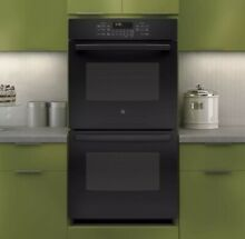 GE JK3500DFBB 27 Inch Electric Double Self Clean Wall Oven   Black NEW