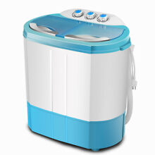 Portable Campact Mini Washing Machine Twin Tub Home Washer Spin Dryer Combo Blue