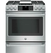 GE Cafe C2S986SELSS 30  Stainless Steel Dual Fuel Range W  Warming Drawer