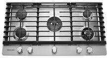 KitchenAid KCGS956ESS 36  5 Burner Stainless Steel Gas Cooktop