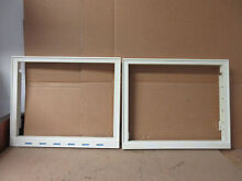 Whirlpool Refrigerator Crisper Frame Set Some Yellowing Part   2223592 2223242