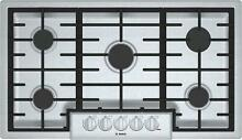 Bosch 800 Series NGM8656UC 36 inch Gas Cooktop 5 Sealed Burners Cast Iron Grates