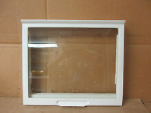 Kenmore Whirlpool Refrigerator Crisper Cover Shelf in Frame Part  999528 2179394