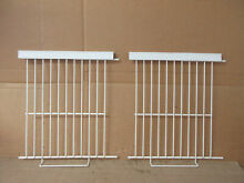 Whirlpool Ref  Freezer Wire Shelf Lot of 2 Some Aging Part   2155604 WP2174267