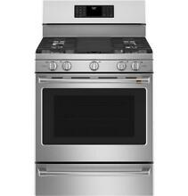 GE Cafe CGB500P2MS1 30  Free Standing Gas Oven with Convection Range