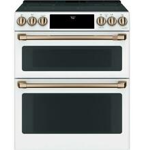 GE Cafe CES750P4MW2 30  Matte White Radiant and Convection Double Oven Range