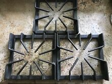 3 VIKING Range Burner Grate Cast Iron Black Stove PA060032 Used